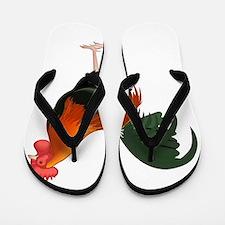 Funny Birds rooster Flip Flops