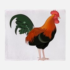 Cool Roosters Throw Blanket