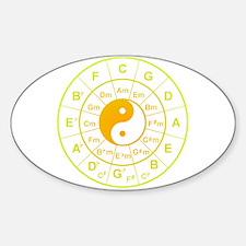 yin yang circle of 5th Decal