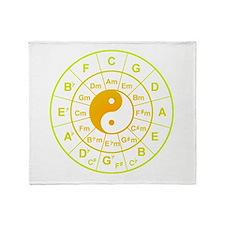 yin yang circle of 5th Throw Blanket