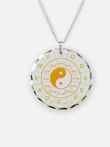 yin yang circle of 5th Necklace
