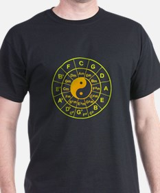 yin yang circle of 5th T-Shirt