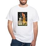 Fairies & Wheaten Terrier White T-Shirt