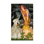 Fairies & Wheaten Terrier Sticker (Rectangle)