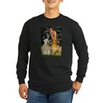 Fairies & Wheaten Terrier Long Sleeve Dark T-Shirt