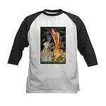 Fairies & Wheaten Terrier Kids Baseball Jersey