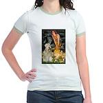 Fairies & Wheaten Terrier Jr. Ringer T-Shirt