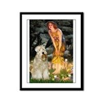 Fairies & Wheaten Terrier Framed Panel Print
