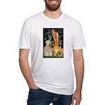 Fairies & Wheaten Terrier Fitted T-Shirt