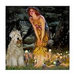 Fairies & Wheaten Terrier Tile Coaster