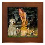 Fairies & Wheaten Terrier Framed Tile