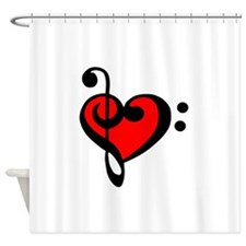 love my clef Shower Curtain