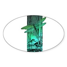 green dragonfly and frog Decal