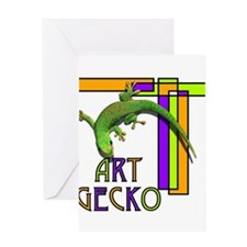 art gecko-2.png Greeting Cards