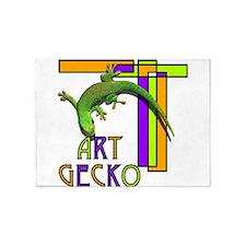 art gecko-2.png 5'x7'Area Rug
