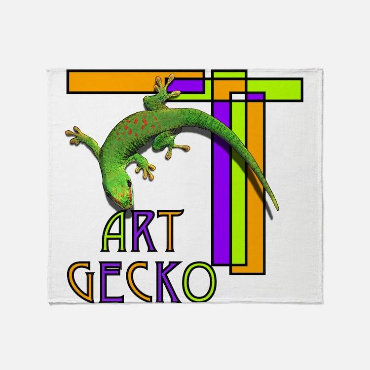 art gecko-2.png Throw Blanket