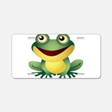 Green Cartoon Frog-4 Aluminum License Plate