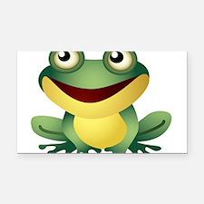 Green Cartoon Frog-4 Rectangle Car Magnet