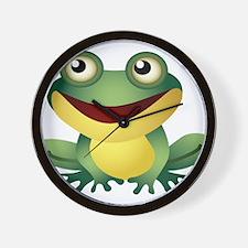 Green Cartoon Frog-4 Wall Clock