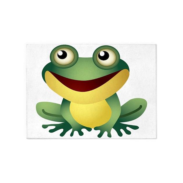Green Cartoon Frog-4 5'x7'Area Rug By UnderTheSea2