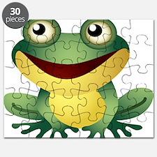 Green Cartoon Frog-4 Puzzle
