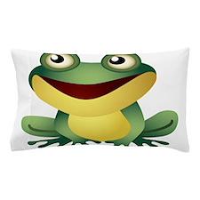 Green Cartoon Frog-4 Pillow Case