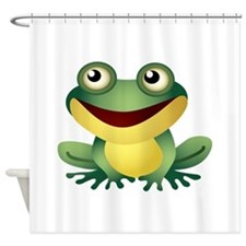 Green Cartoon Frog-4 Shower Curtain