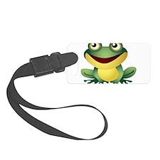 Green Cartoon Frog-4 Luggage Tag