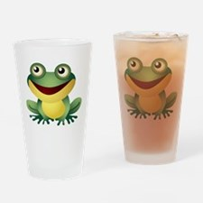 Green Cartoon Frog-4 Drinking Glass