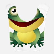 Green Cartoon Frog-4 Bib