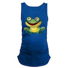 Green Cartoon Frog-4 Maternity Tank Top