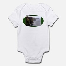 Cliffs of Moher on green oval Infant Bodysuit