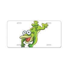 Jumping Frog Aluminum License Plate