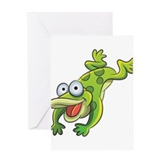 Jumping Frog Greeting Cards