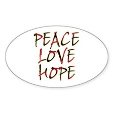 Peace Love Hope Decal