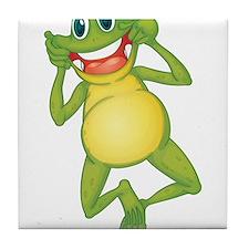 Frog with Big Smile Tile Coaster