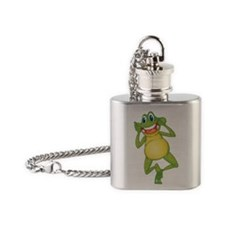 Frog with Big Smile Flask Necklace