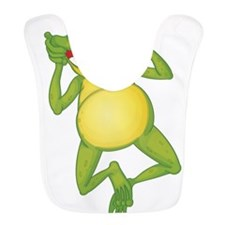 Frog with Big Smile Bib
