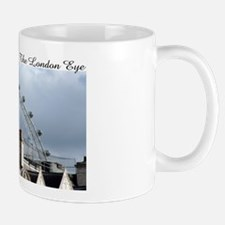 """The London Eye"" over rooftop Mug"