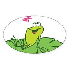 Frog with Butterfly Decal