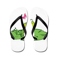 Frog with Butterfly Flip Flops