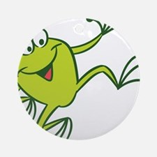 Dancing Frog Ornament (Round)