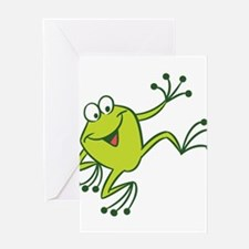 Dancing Frog Greeting Cards