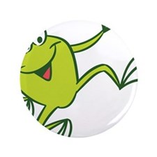 """Dancing Frog 3.5"""" Button"""