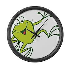 Dancing Frog Large Wall Clock