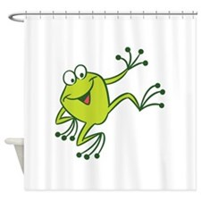 Dancing Frog Shower Curtain