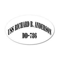USS RICHARD B. ANDERSON 20x12 Oval Wall Decal