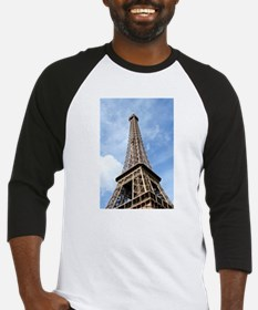 Looking up at Eiffel Tower Baseball Jersey