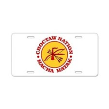Choctaw Nation Aluminum License Plate