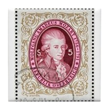 Cute Mozart Tile Coaster